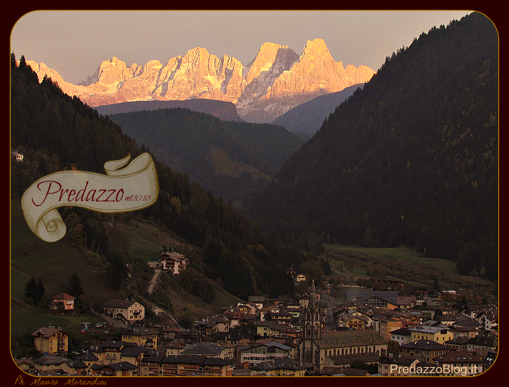 predazzo tramonto by predazzoblog