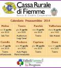 cassa rurale di fiemme calendario preassemblee 2014