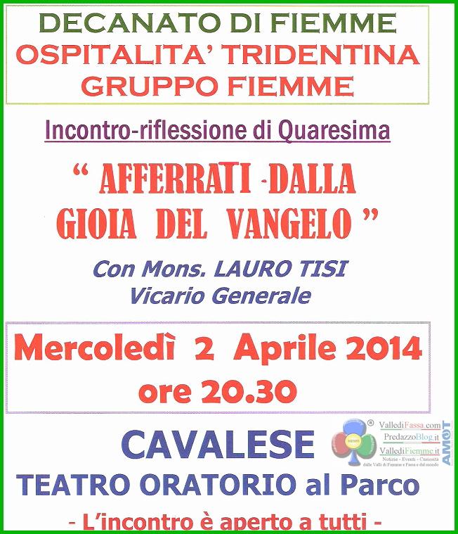 decanato di fiemme incontro don lauro tisi 2 aprile 2014 Predazzo, avvisi della Parrocchia   necrologio Antonietta Demartin
