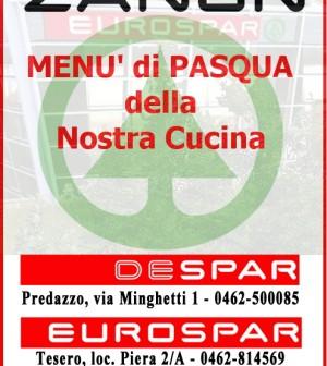 eurodespar zanon menu di pasqua fiemme in progress
