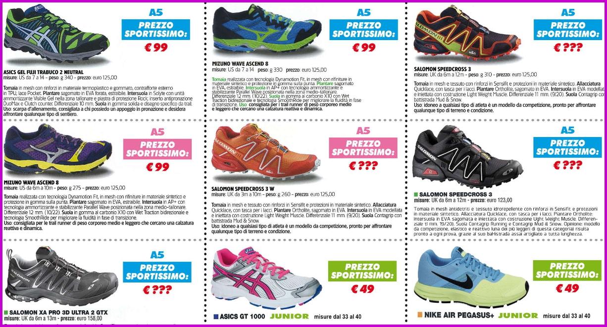 sportissimo scarpe a5 Predazzo, Mizuno Day da Sportissimo