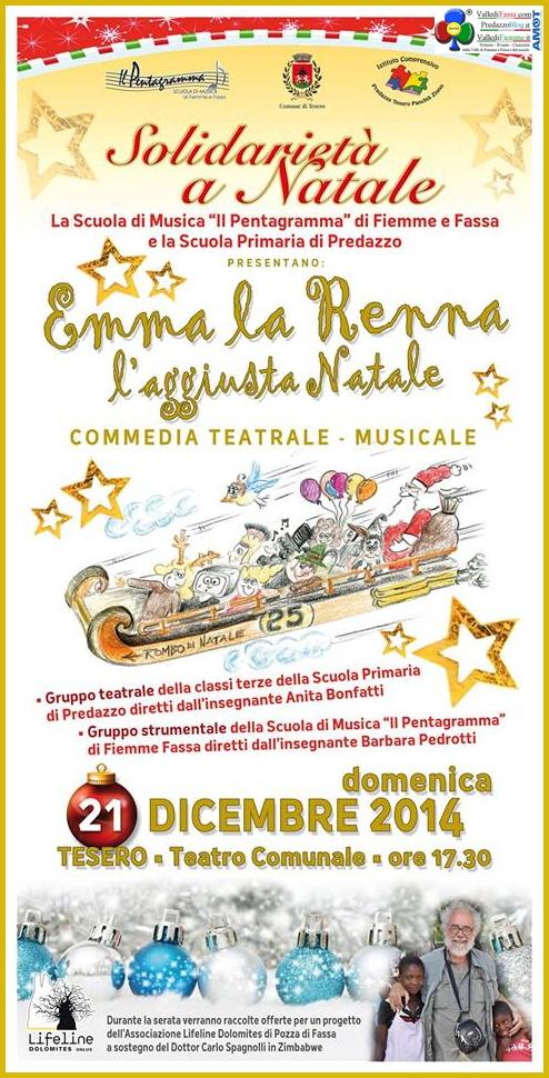 """Emma la Renna"" Commedia Teatrale Musicale a Tesero @ Teatro Comunale | Tesero | Trentino-Alto Adige | Italia"