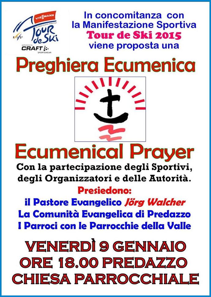 ecumenical prajer tour de ski 2015 Predazzo, avvisi della Parrocchia 4/11 gennaio 2015