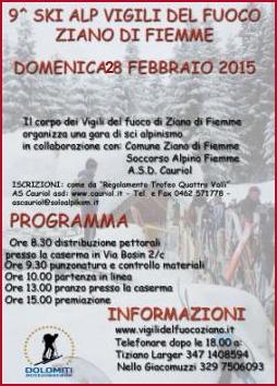 9° Ski Alp Vigili del Fuoco a Ziano @ Caserma Vigili del Fuoco | Ziano di Fiemme | Trentino-Alto Adige | Italia