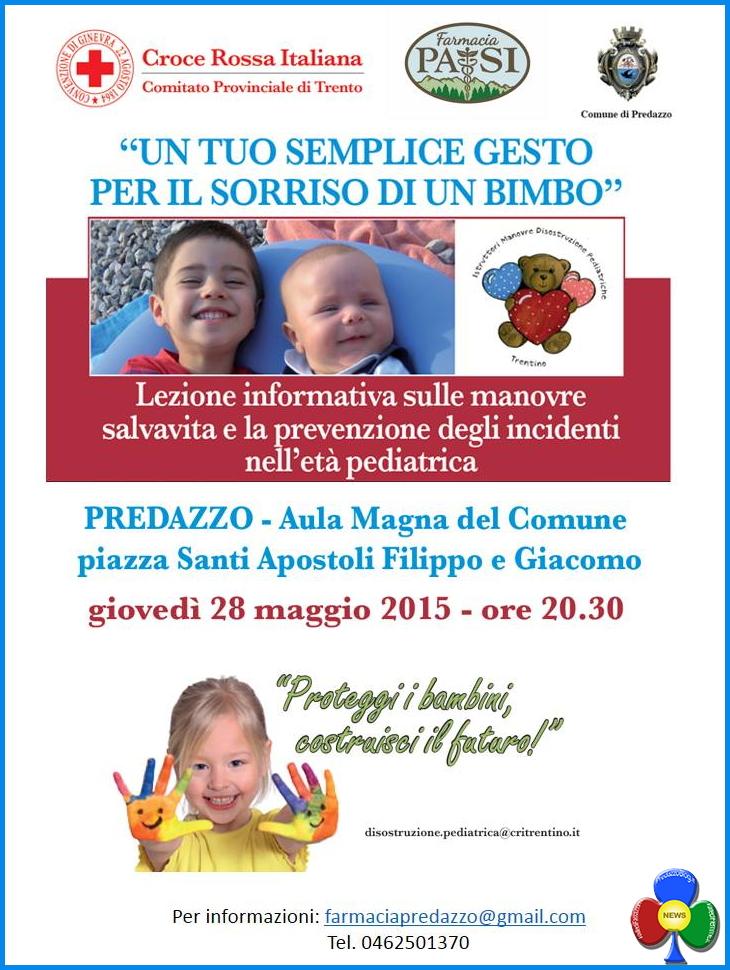 Manovre salvavita in età pediatrica @ Aula Magna Municipio | Predazzo | Trentino-Alto Adige | Italia
