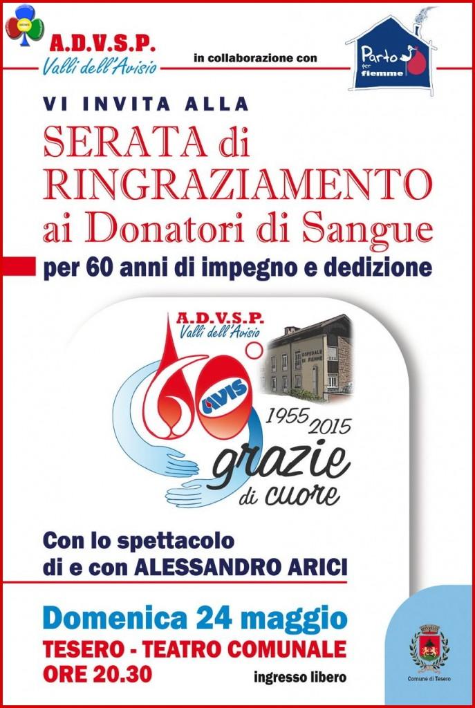 Serata di ringraziamento Donatori di Sangue @ Teatro Comunale | Tesero | Trentino-Alto Adige | Italia