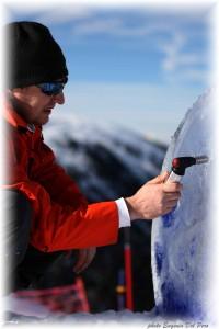 autore marco nones land art val di fiemme 200x300 Val di Fiemme, neve dautore