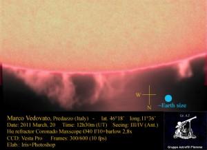 20110320 1230 vedo 300x218 La foto della settimana   spettacolo sul Sole