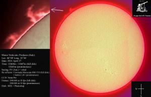 20110417 1107 vedo 300x193 La foto della settimana: Lintero disco solare