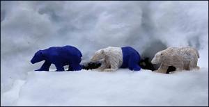 p il disgelo degli orsi marco nones 300x154 MOSTRA DARTE, a Ferrara la Rivoluzione della specie di Marco Nones