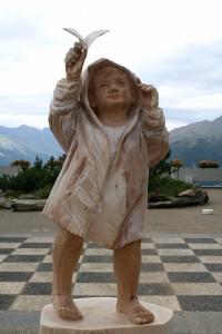 14 scultura le fil du vent thyon marco nones intera p 200x300 Lartista di Cavalese Marco Nones vince il Simposio di scultura di Thyon