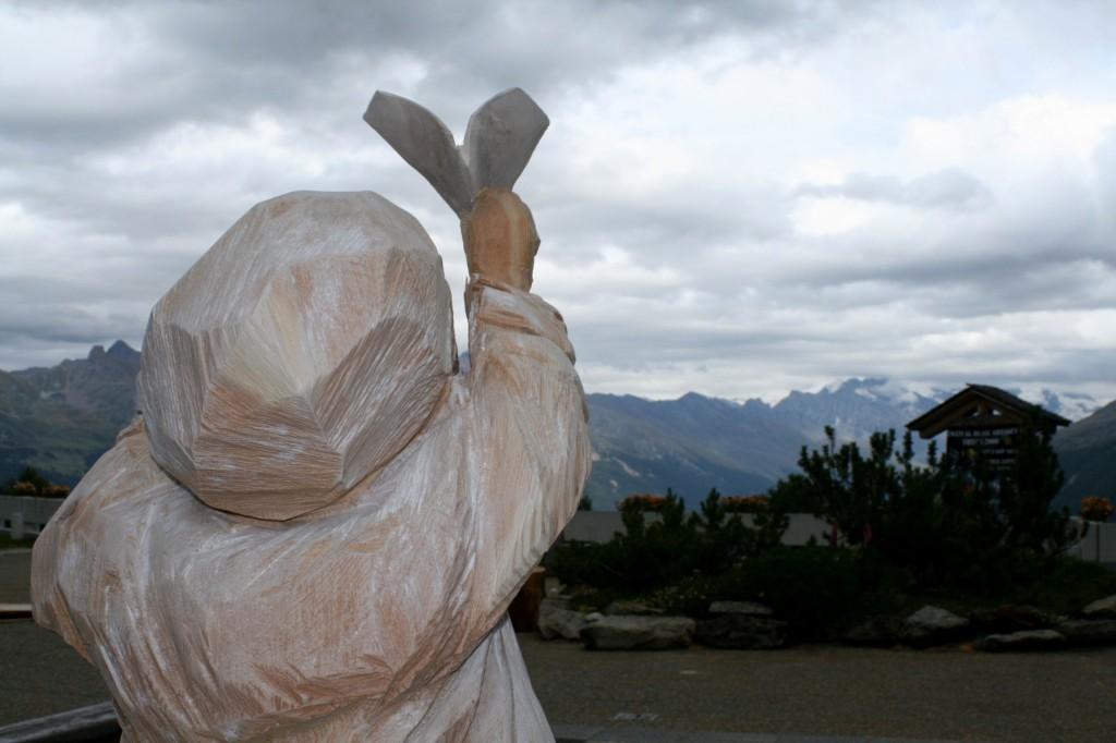18 le fil du vent marco nones sculture thyon 2011 p 1024x682 Lartista di Cavalese Marco Nones vince il Simposio di scultura di Thyon