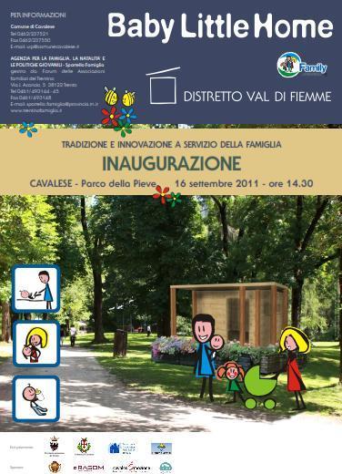 cavalese casetta blh per neomamme valledifiemme Cavalese, inaugurata nel parco della Pieve la BLH (casetta per le neo mamme)