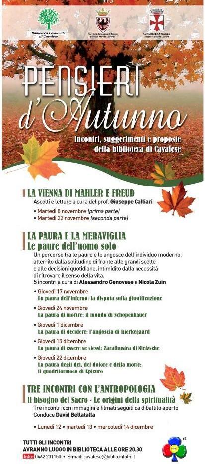 autunno predazzo blog1 e1320327045938 Pensieri dAutunno, serie di incontri a Cavalese