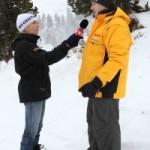 Simona Burattini intervista Marco Nones a Pampeago per il TG Due 200x3001 150x150 Val di Fiemme   RespirArt, lassociazione nata da un bozzolo