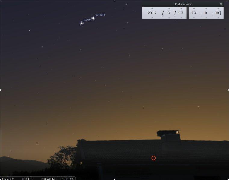 Allineamento da Terra UFO in cielo? No! La congiunzione Giove Venere del marzo 2012