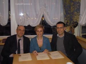 fiemme Presidente della Provincia di Cagliari dott.ssa Angela M.Quaquero a Cavalese valledifiemme it 300x225 La Presidente della Provincia di Cagliari a Cavalese per conoscere il Distretto Famiglia della Valle di Fiemme