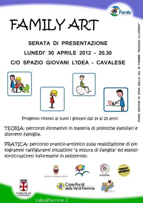 family art cavalese valle di fiemme it Cavalese, presentazione del progetto Family art