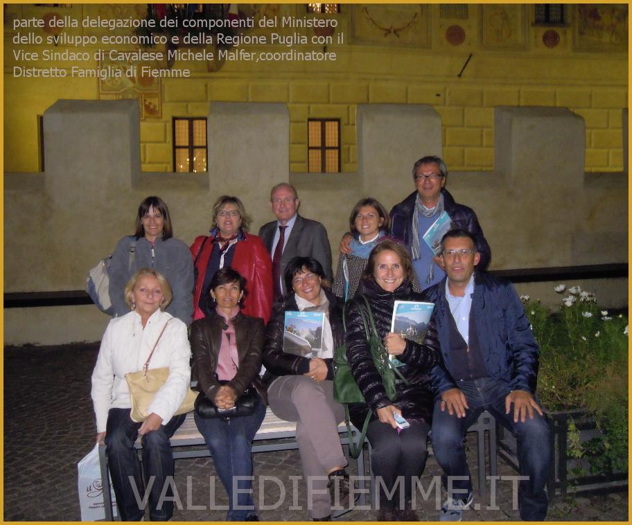 delegazione puglia e roma cavalese fiemme Il modello Trentino per la famiglia da mutuare nella regione Puglia, passando per la Valle di Fiemme