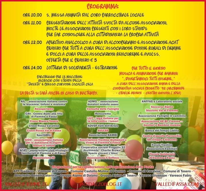 festa vontariato fiemme sotto 2012 Festa del Volontariato di Fiemme e Fassa 23.9.2012