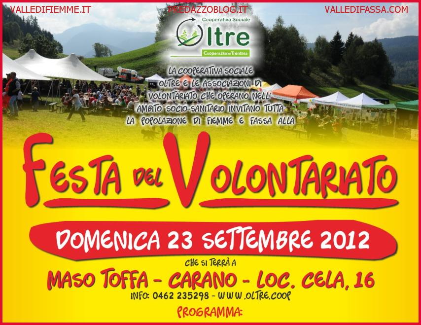 festa vontariato fiemme up 2012 Festa del Volontariato di Fiemme e Fassa 23.9.2012