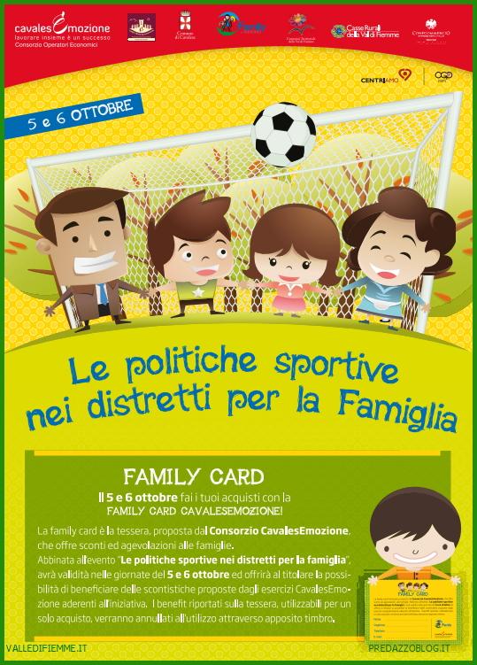 POLITICHE SPORTIVE FAMIGLIA FIEMME Cavalese: Le politiche sportive nei distretti per la famiglia