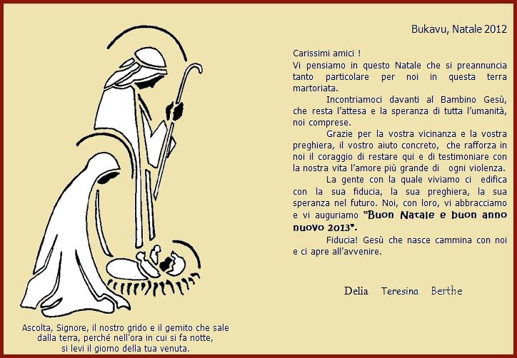 auguri natale sr delia da bukavu Buon Natale a tutti gli amici di PredazzoBlog, dallAfrica e dallAmazzonia