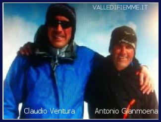 claudio ventura antonio gianmoena tragedia sci lagorai fiemme Nuova sciagura in Valle di Fiemme, due morti sotto la valanga sul Lagorai. Le vittime sono Claudio Ventura e Antonio Gianmoena, entrambi della Valle di Fiemme.