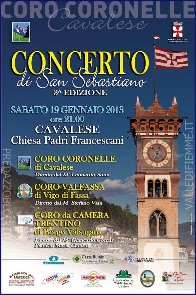 concerto coro coronelle cavalese valle di fiemme it 681x1024 Cavalese, 3^ Edizione del Concerto di San Sebastiano con il Coro Coronelle