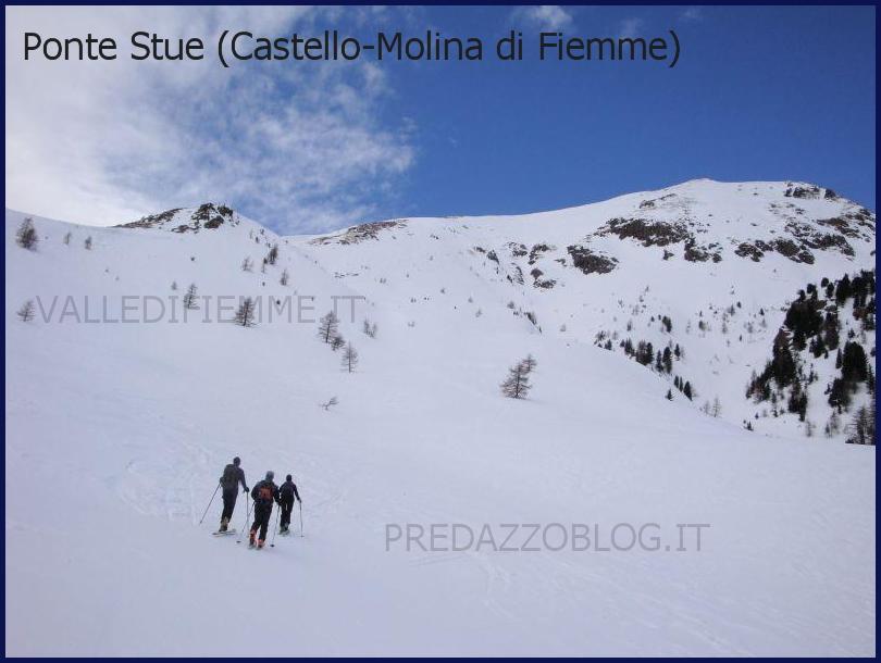ponte stue lagorai sci alpinismo valanga fiemme Nuova sciagura in Valle di Fiemme, due morti sotto la valanga sul Lagorai. Le vittime sono Claudio Ventura e Antonio Gianmoena, entrambi della Valle di Fiemme.