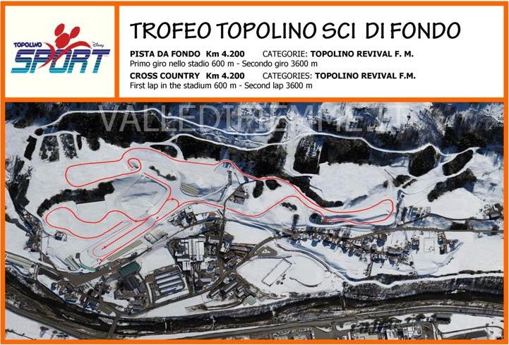 trofeo topolino tracciato stadio fondo valle di fiemme it Trofeo Topolino 2013 Sci di Fondo a Lago di Tesero, in Valle di Fiemme