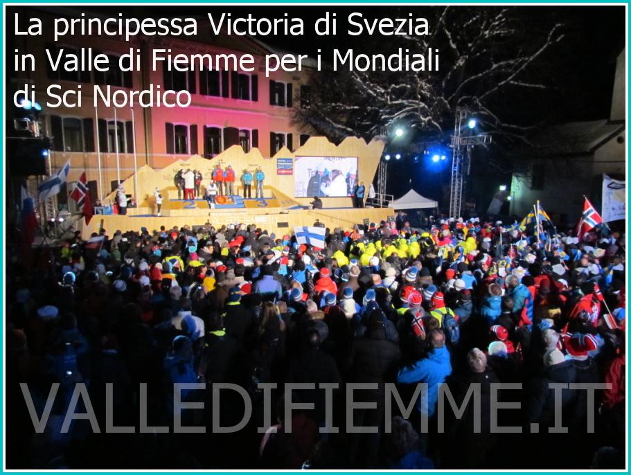 La principessa Victoria di Svezia e Daniel principe di Svezia in valle di fiemme per i mondiali sci nordico 1 La principessa Victoria di Svezia alla Cerimonia di Premiazione Mondiali Fiemme 2013