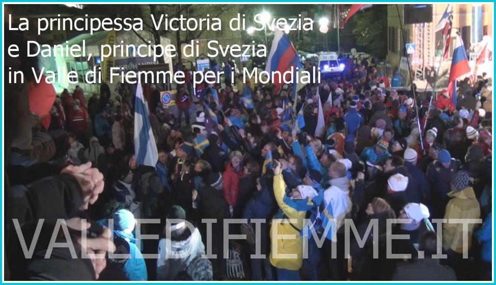 La principessa Victoria di Svezia e Daniel principe di Svezia in valle di fiemme per i mondiali La principessa Victoria di Svezia alla Cerimonia di Premiazione Mondiali Fiemme 2013