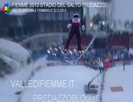 Gara salto speciale femminile Stadio del Salto Predazzo Mondiali Fiemme 2013