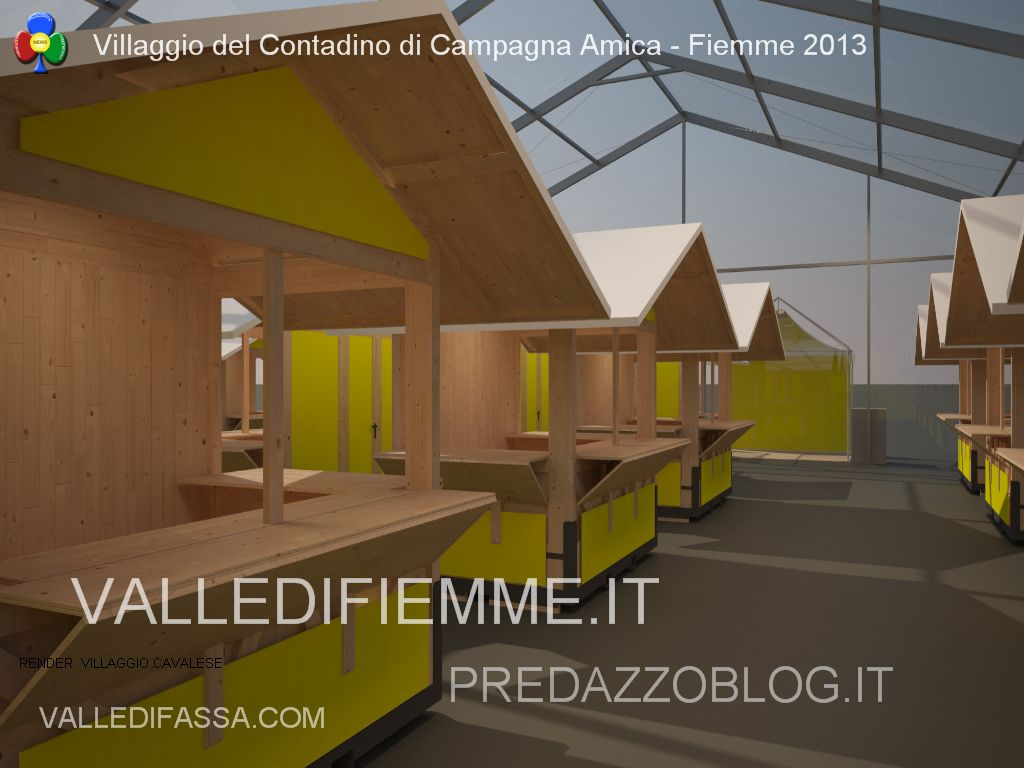 render Villaggio del Contadino di Campagna Amica cavalese fiemme 20136