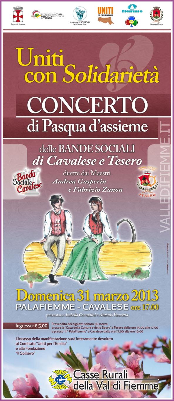 concerto pasqua banda tesero cavalese valle di fiemme 2013