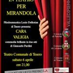 LOCANDINA TEATRO TESERO CARA VALIGIA 150x150 Teatro di Cavalese: firmato laccordo per la ricostruzione