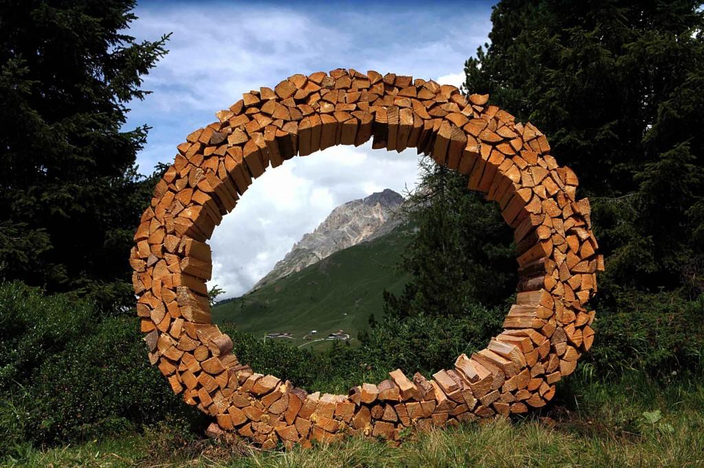 RespirArt Messa a fuoco sul latemar di Marco Nones p 1024x682 Artisti in quota nel Parco d'Arte RespirArt