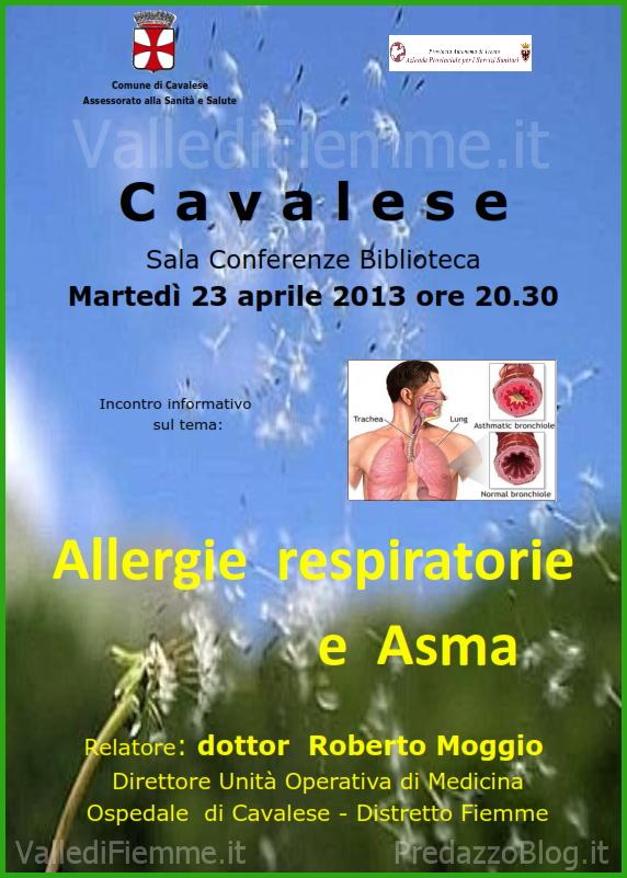 allergie respiratorie cavalese fiemme Allergie respiratorie ed asma, serata con il dott. Roberto Moggio a Cavalese