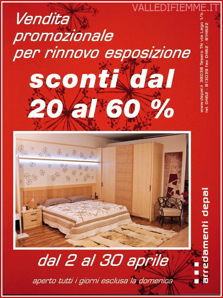 depal promozione sconti aprile 2013 Arredamenti Depal sconta tutto dal 20 al 60 %