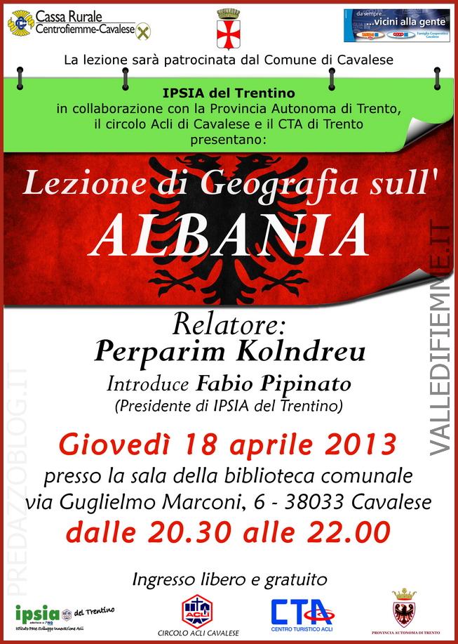 lezione geografica albania cavalese fiemme Cavalese, lezioni di geografia sullAlbania