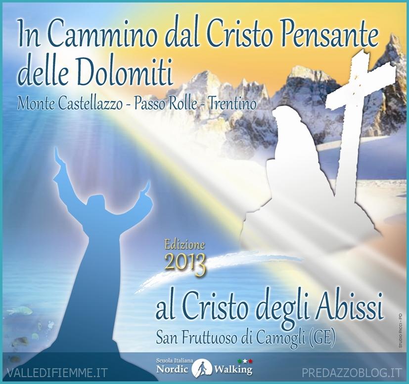 logo dal cristo pensante dolomiti al cristo degli abissi valle di fiemme Dal Cristo Pensante al Cristo degli Abissi 2013   Il nuovo logo