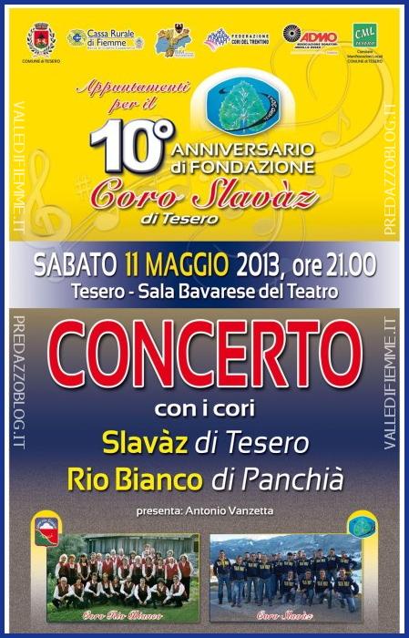 CORO SLAVAZ TESERO FIEMME Tesero, concerto con i Cori Slavàz e Rio Bianco