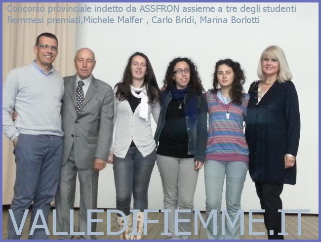 concorso assfrom premiati fiemme Gli studenti de La Rosa Bianca di Cavalese protagonisti al concorso Assfron e Bianconero