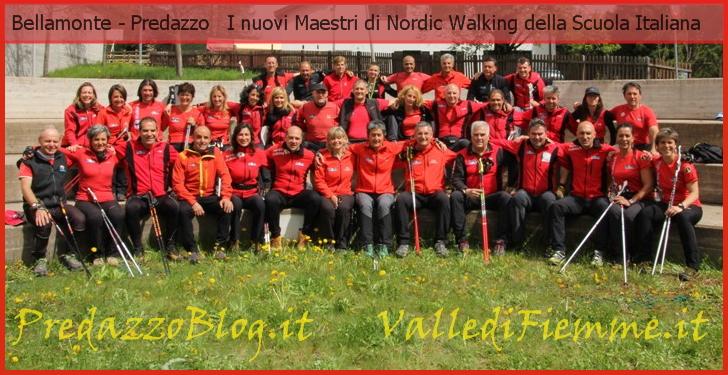 nuovi maestri nordic walking scuola italiana fiemme Bellamonte, i nuovi Maestri di Nordic Walking della Scuola Italiana