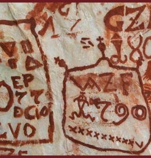 scritte rupestri fiemme bol