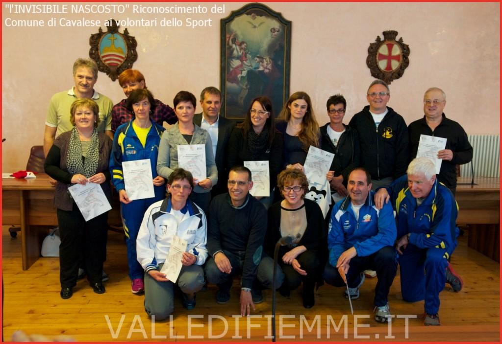 volontari dello sport 1 cavalese fiemme 1024x703 lINVISIBILE NASCOSTO Riconoscimento del Comune di Cavalese ai volontari dello Sport