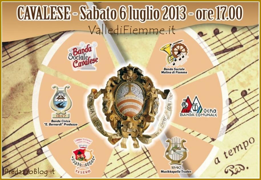 concertone fiemme cavalese 2013 71°Concertone delle Bande di Fiemme   Cavalese 6 luglio 2013
