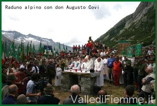 don augusto covi alpini fiemme Tesero, è deceduto don Augusto Covi