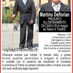 martino deflorian cavalese scomparso fiemme 150x150 Carano, Cembra, Segonzano, ancora furti in Valle di Fiemme e Cembra